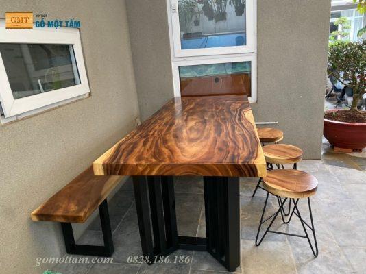 bàn ăn gỗ me tây 6 ghế