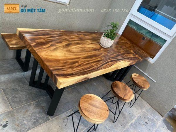 bàn ăn gỗ me tây
