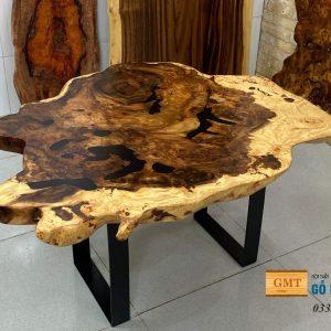 bàn sofa gỗ me ây nguyên tấm
