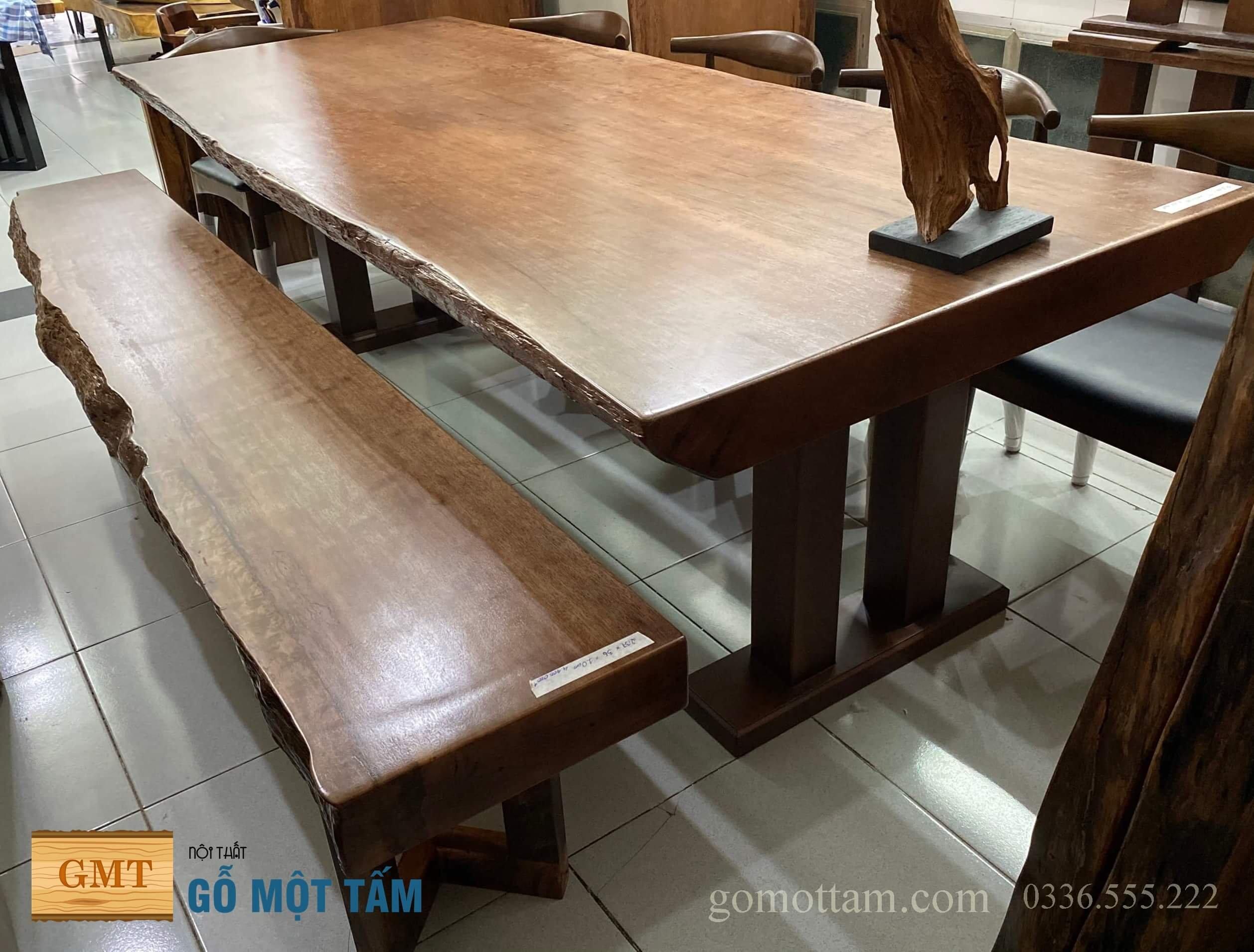 bàn ăn gỗ tự nhiên ghế gỗ
