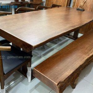 bàn ghế ăn gỗ tự nhiên cao câp
