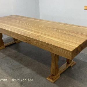 Mặt bàn gỗ gõ nguyên tâm
