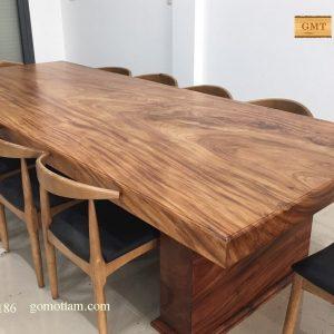 bàn họp gỗ nguyên tấm