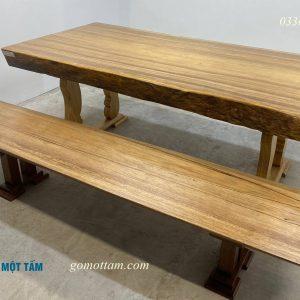bộ bàn gỗ lim nguyên tấm