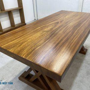 bàn gỗ lim nguyên khối