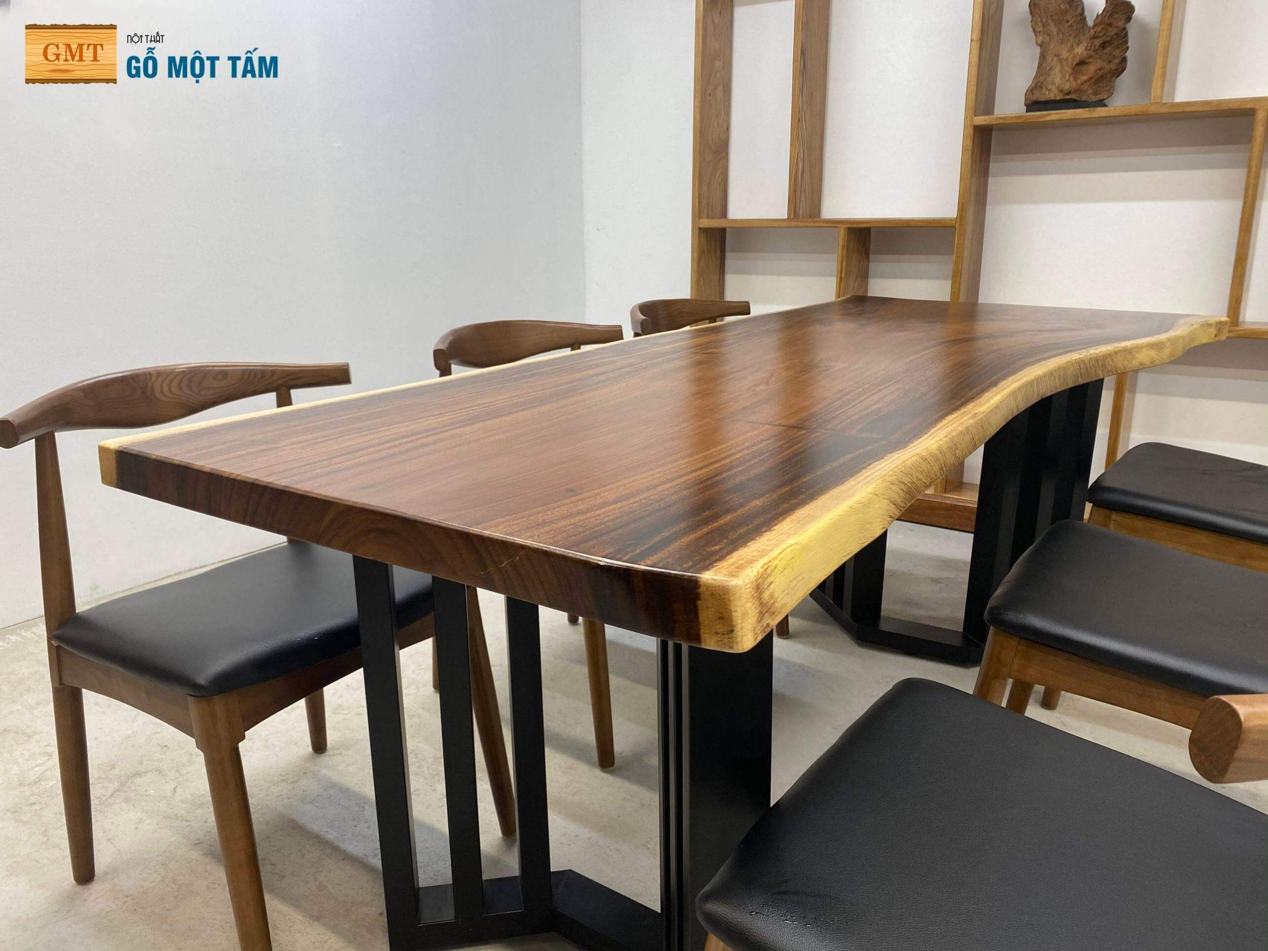 bàn gỗ me tây