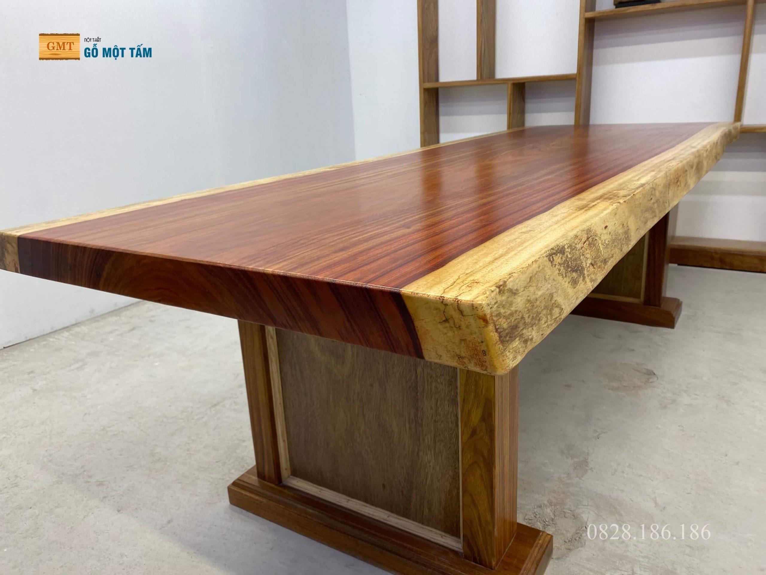 bàn gỗ hương đỏ nguyên tấm