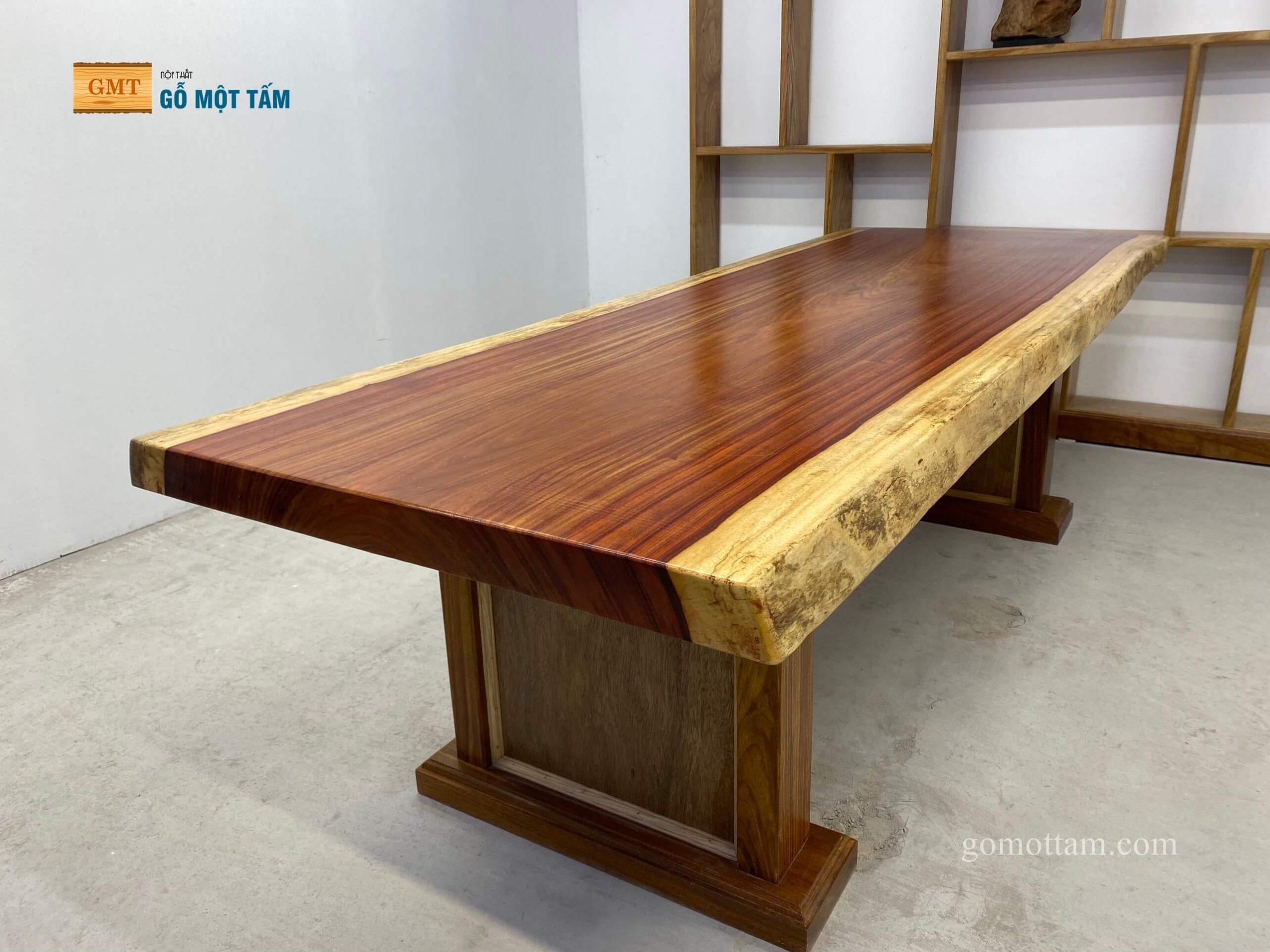 bàn họp gỗ hương đỏ