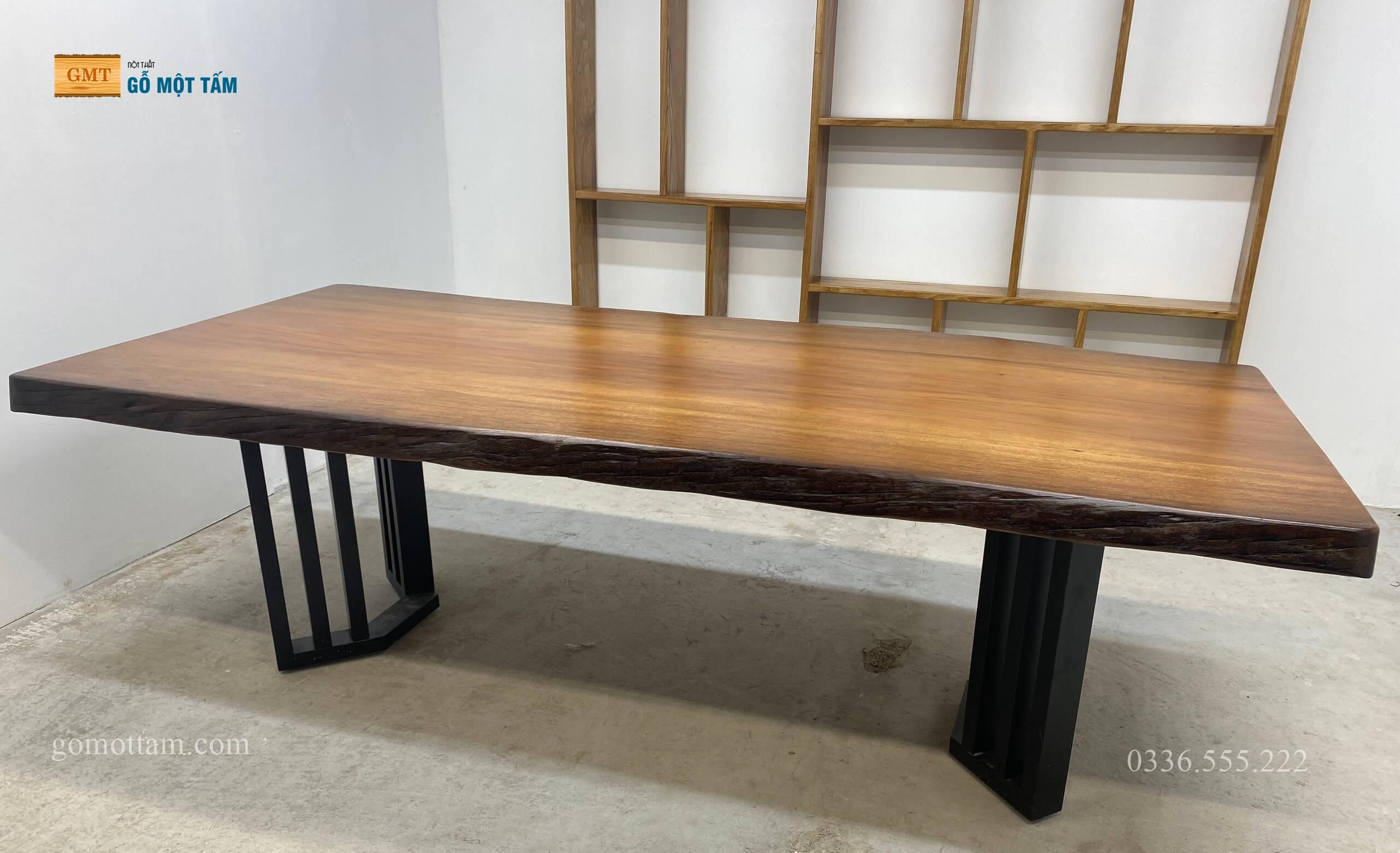 bàn họp gỗ nguyên khối 2
