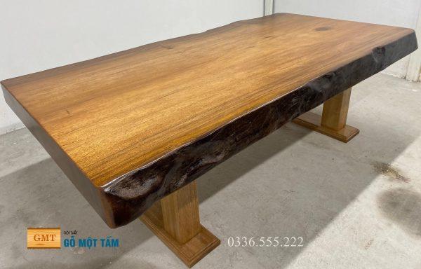 bàn họp gỗ tự nhiên nguyên khối 1