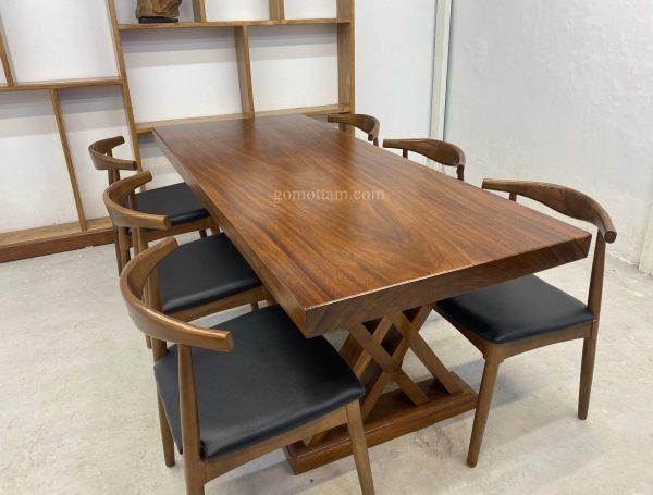 bộ bàn gỗ lim nguyên khối giá rẻ