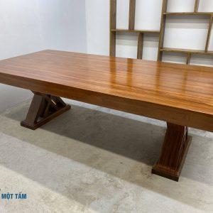 mặt bàn gỗ gõ nguyên khối