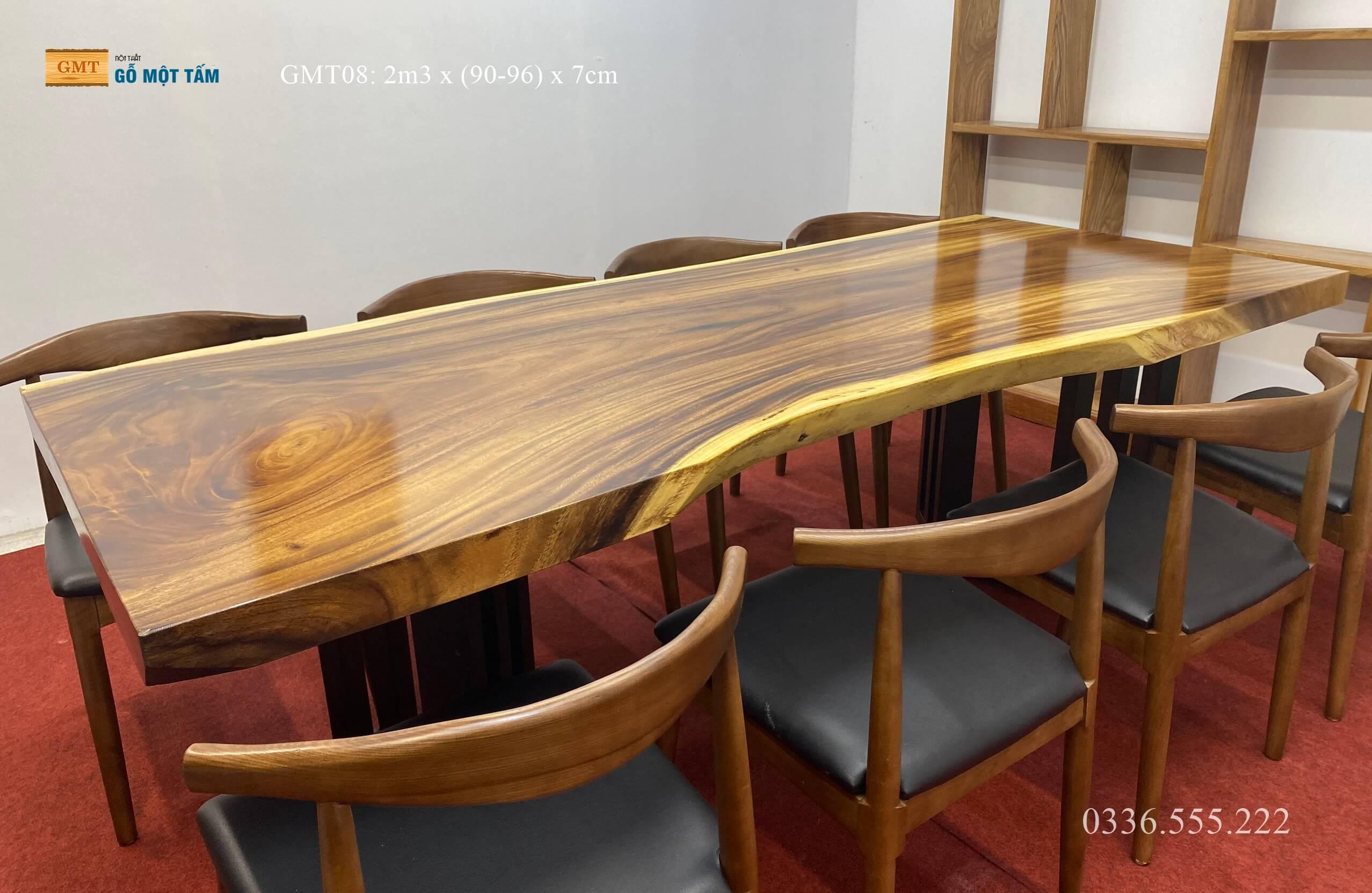 Mặt bàn gỗ me tây đẹp nhất