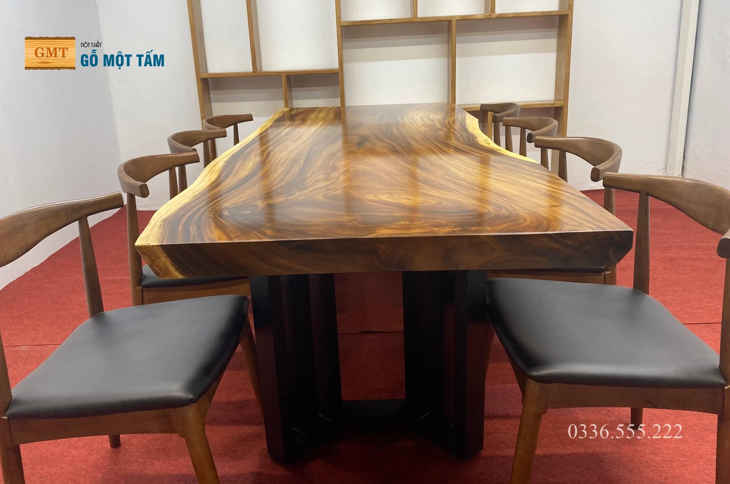 Mặt bàn gỗ me tây giá rẻ 2