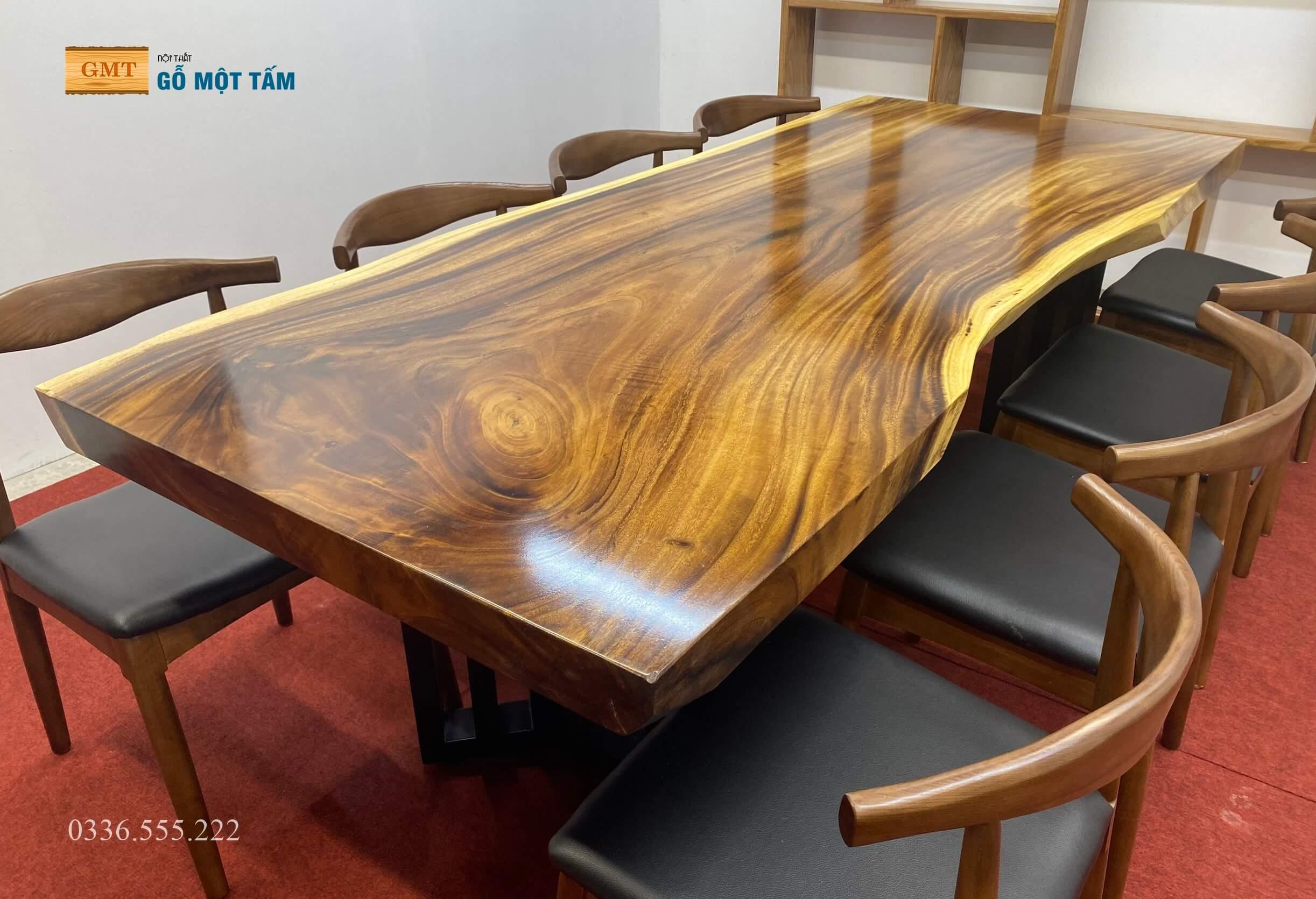 Mặt bàn gỗ me tây giá rẻ