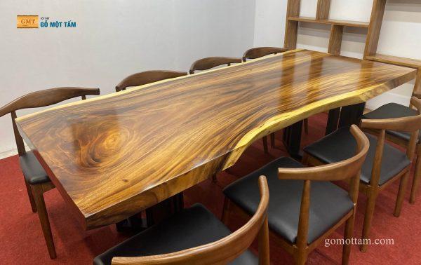 bàn ăn gỗ me tây 8 ghế