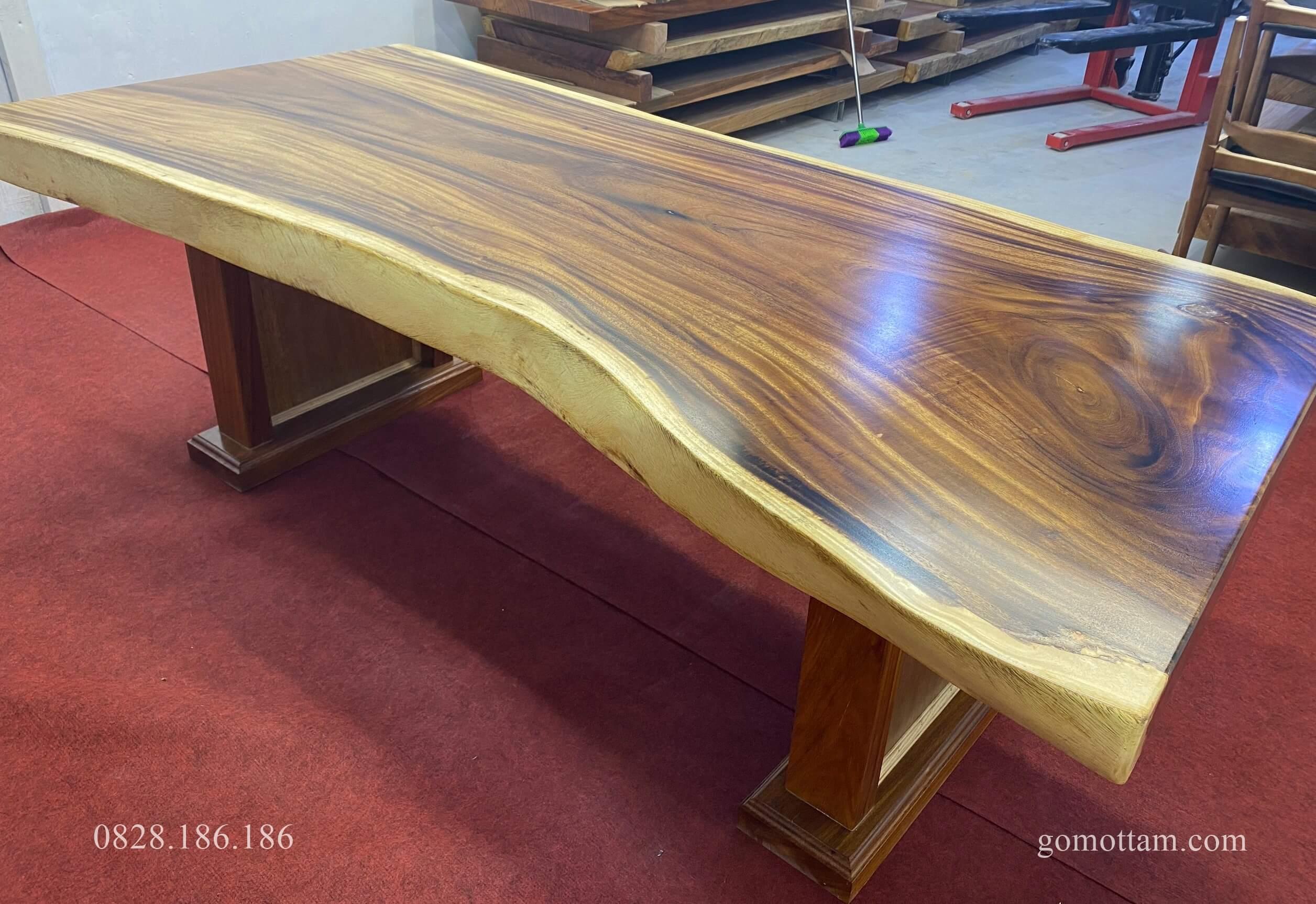 bàn gỗ me tây dày 10cm