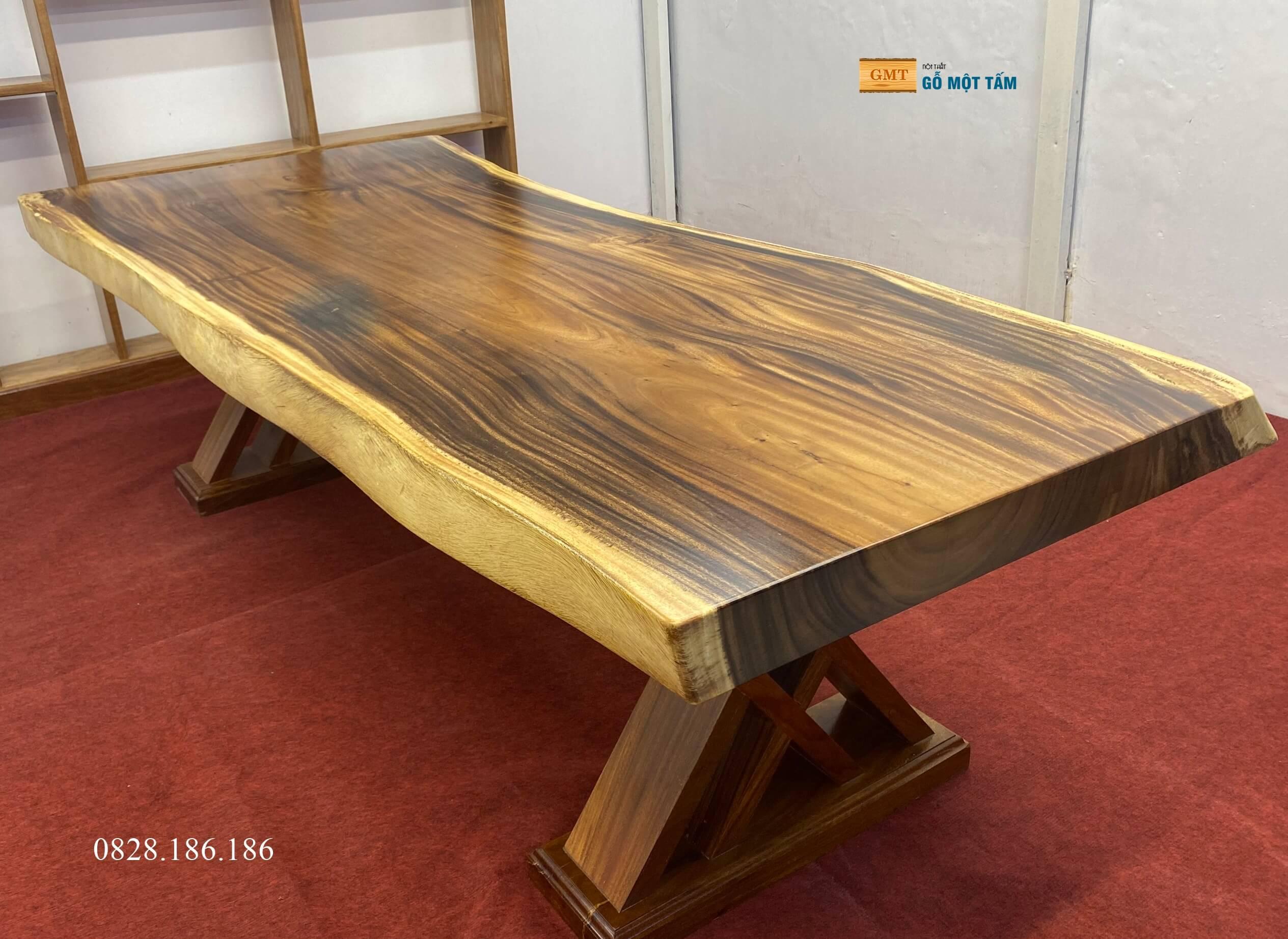 bàn gỗ me tây nguyên khối hcm