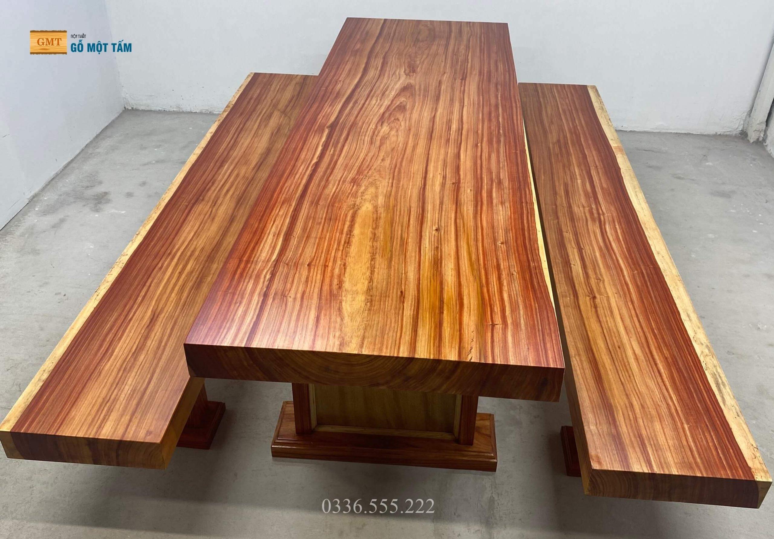 bộ bàn k3 gỗ hương đỏ