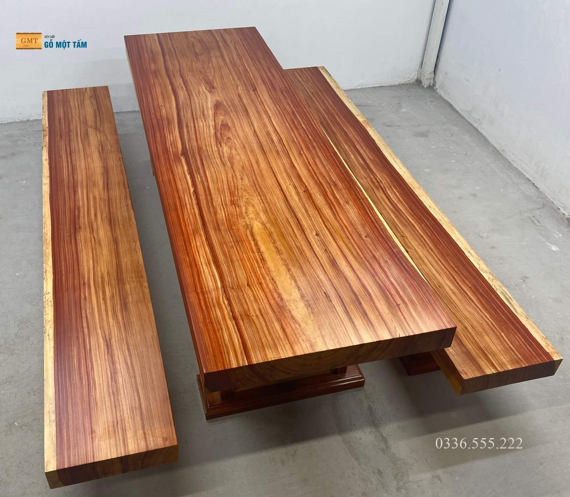 bộ bàn k3 gỗ nguyên khối