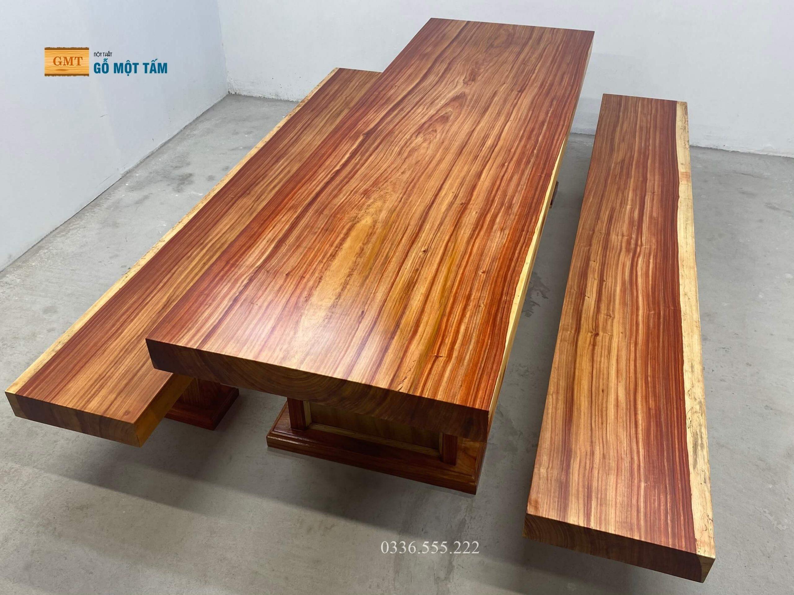 bộ bàn gỗ hương đỏ