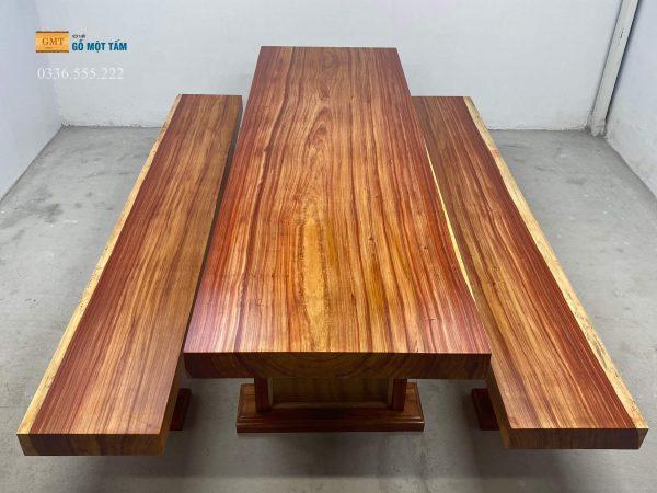 bộ bàn gỗ hương padouk