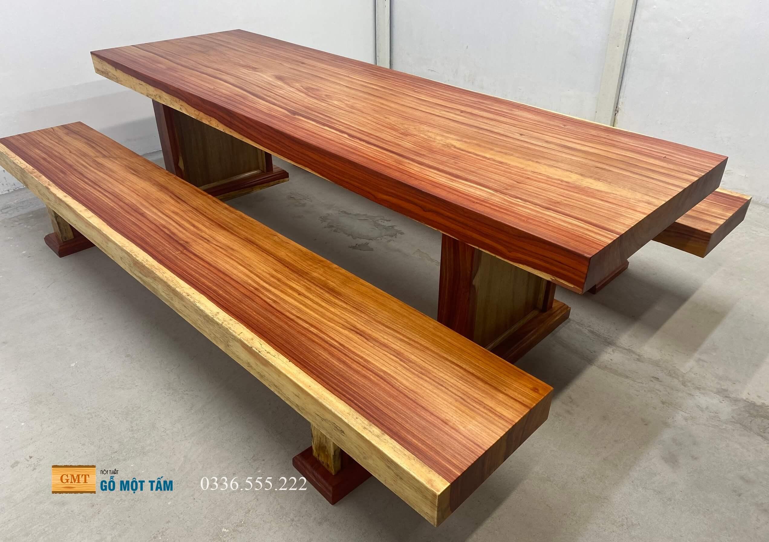 bộ bàn gỗ tự nhiên nguyên tấm